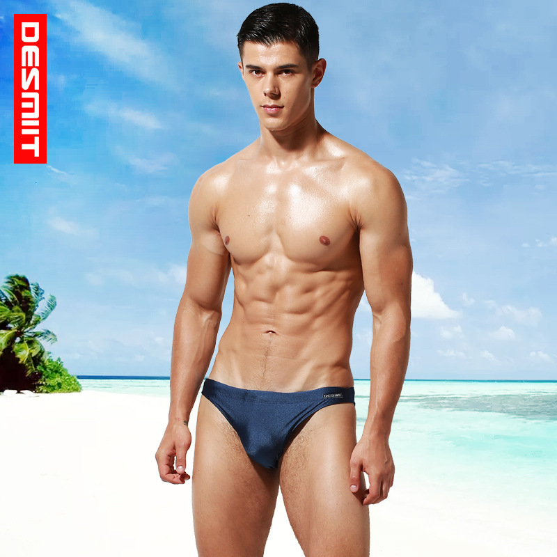 8ea4328ad4c1f Desmiit Man's Swimming Briefs Swimsuit Low Waist Swimwear Push Up Pad Sexy  Surf Beach Shorts Boxers Summer Men Swim Trunks