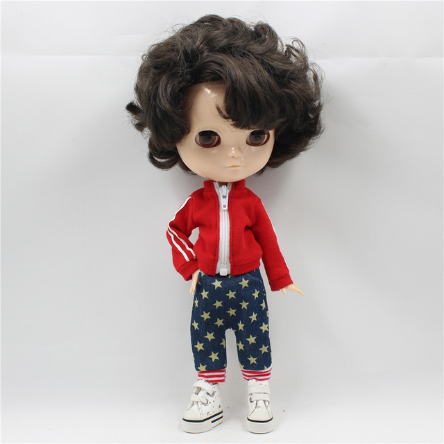 Fortune Days F&D New ICY DBS Doll Same As Factory Nude Doll Joint Male Body Short Curly Black Hair