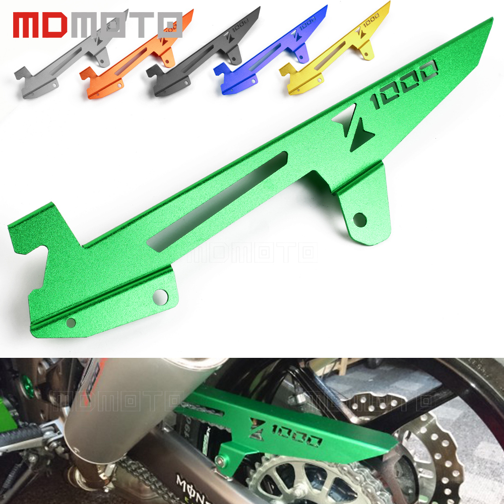 MDMOTO Motorcycle CNC Aluminum Chain Protector Guard Cover Decoration For Kawasaki Z1000 2010-2017 Z1000SX Ninja 1000 2011-2017 bjmoto cnc aluminum motorbike accessaries motorcycle engine guard cover pad for kawasaki z1000 r 2010 2011 2012