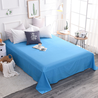 Bedding Sheet Home textile Printing Solid Color Flat Sheets Combed Cotton Bed Sheet Bedding Linen single King Queen full Size