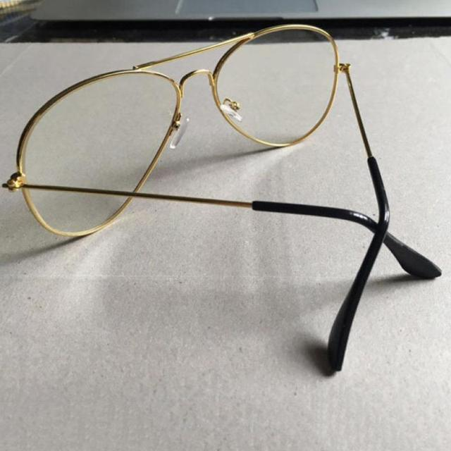 58ab4c242f6 Unisex Big Round Gold Metal Frame Glasses Oversize Clear Lens Vintage Retro  Chic Eye Glasses