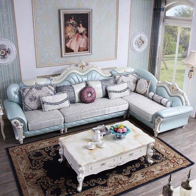 l shape furniture. Simple European Style L Shape Leather Sofa Set For Living Room Furniture