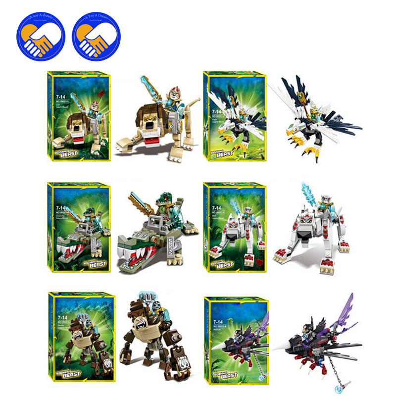 (A Toy A Dream)Qigong legendary animal editon 2 CHIMAED Super Heroes Figures Building Blocks Bricks For Children Gift Kids Toys hot sale qigong legend animal figures wolf lion eagle crocodile lepine building bricks blocks sets toy for children gift