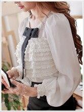 Original New 2016 Brand Shirt Woman Autumn and Winter Loose Vintage Women Blouse Wholesale