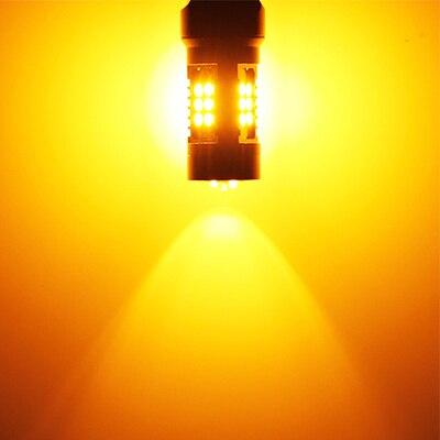2x CANbus P21/5 Вт светодиодные автомобильные 1157 BAY15D прожекторные огни для peugeot 408 308 3008 RCZ Led DRL дневные ходовые огни - Испускаемый цвет: Цвет: желтый