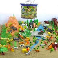 200pcs/bag Animal Dinosaur Model Set Plastic Animal Liger Looks Like A Leopard Sheep Ox and Horse