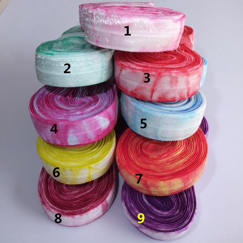 5 Yards Tie Dye Elastic Bands 5 8 Fold Over Elastic