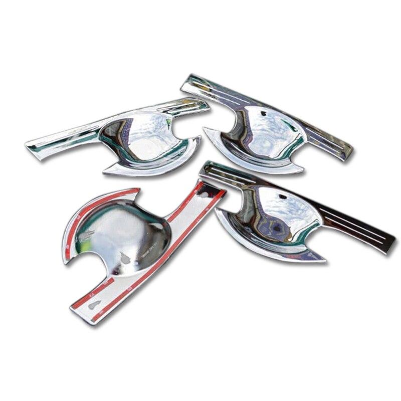 ABS Chrome Exterior Side Door Handle Bowl 4pcs Accessories trim For Ford Explorer 2011 2012 2013 2014 2015 2016 2017 2018