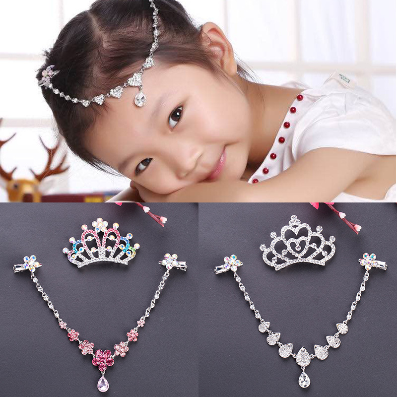 Girl Hair Accessories Hair Decor Crown Crystal Princess Wedding Party Birthday Gift Christmas