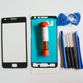 Front Outer Glass Lens for Samsung Galaxy S2 II i9100 Top LCD Touch screen replacement & UV glue & tools & adhesive