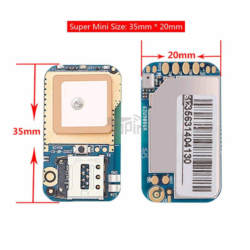 Hot ZX612 Mini caché GPS Tracker positionneur localisateur SOS alarme Web APP suivi haute intégration PCBA pour enfants enfants animaux voiture