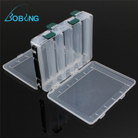 Latest 10 Compartments Fly Fishing Lure Bait Tackle Box Case Double Sided High Strength Transparent Visible
