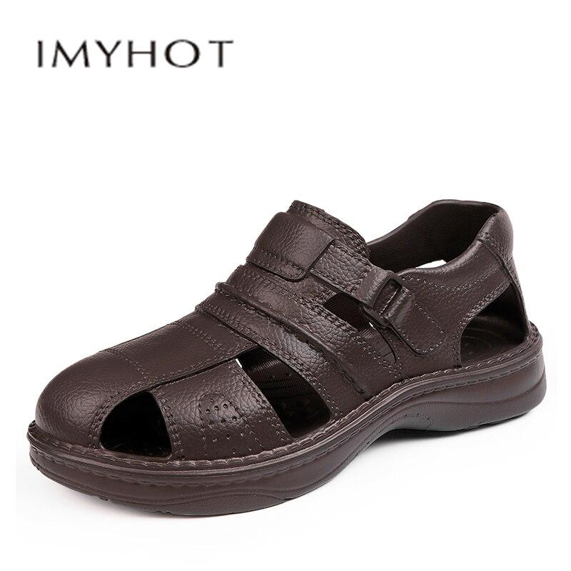 Classic Men Soft Sandals Comfortable Men  Shoes Leather Sandals Big Size Soft Sandals Men Roman Comfortable Men Beach Outdoor