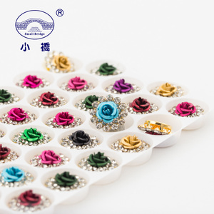 Image 4 - Golden Bottom Crystal Rhinestone With Claw Mix Color Flower Sew On Rhinestones Bridal Glass Stones for Clothes Decoration S136