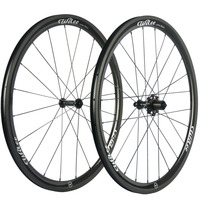 Wilee Bike 38mm Carbon wheelset 3K Twill Clincher Carbon Wheels Bicycle Wheel Carbon Fiber Bike Wheels With R17606
