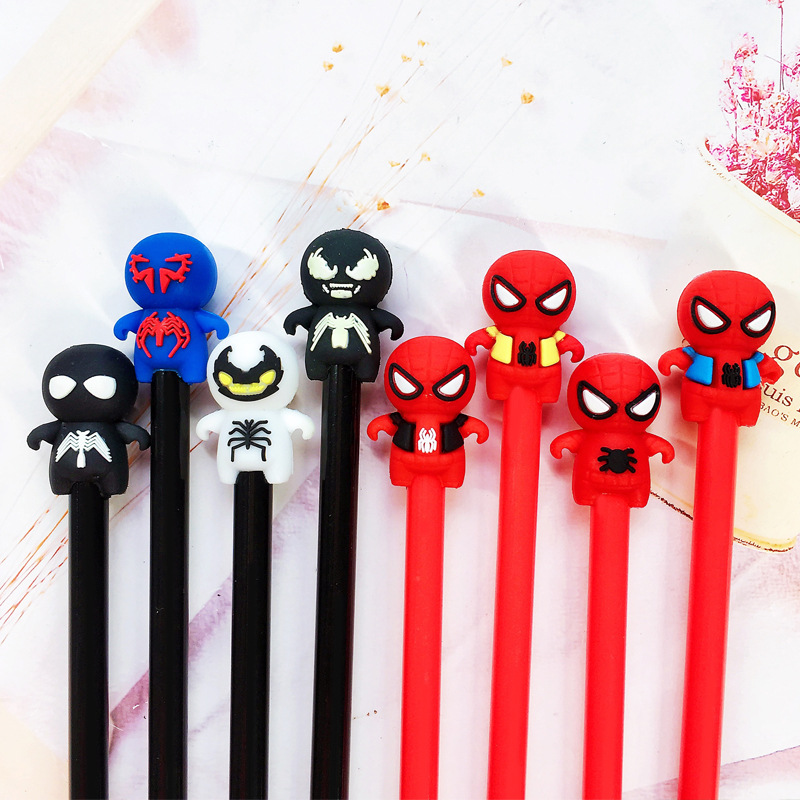 4 Pcs/lot Marvel Novelty Various Spiderman Avengers Gel Pen Ink Pen Promotional Gift Stationery School & Office Supply