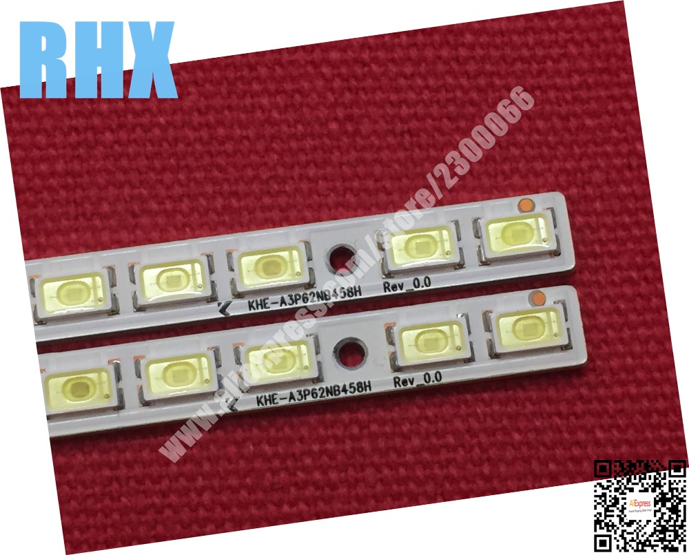 2piece FOR Repair TCL L40E5200BE LCD TV LED backlight Article lamp  LJ64-02730A 40-D0WN KHE-A3P62NB458H 1PCS=62LED 458MM 100%NEW