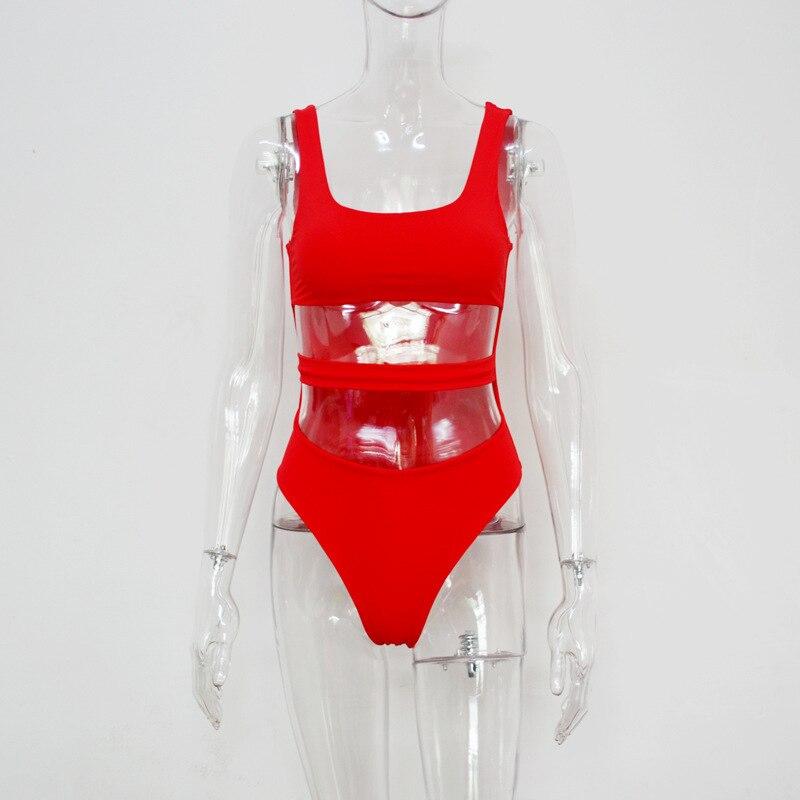 9aac8f94149 PLAVKY Sexy Cut Out Bandage Trikini Bathing Suit Bodysuit Monokini ...
