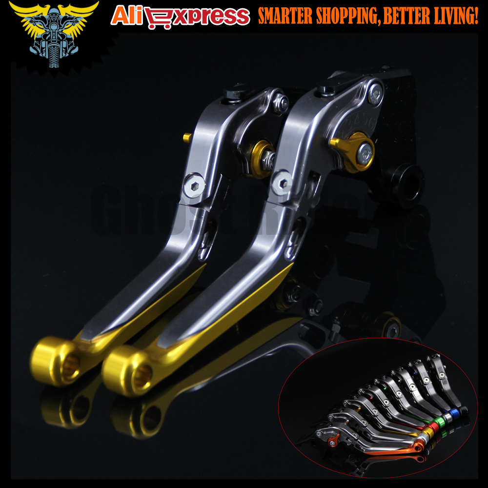 Gold+Titanium 8 Colors New CNC Adjustable Folding Extendable Motorcycle Brake Clutch Levers For SUZUKI DL650/V-STROM 2011 2012 motorcycle cnc aluminum brake clutch levers for suzuki sfv650 gladius 2009 2015 dl650 v strom 2011 2012 gsr600 2006 2011