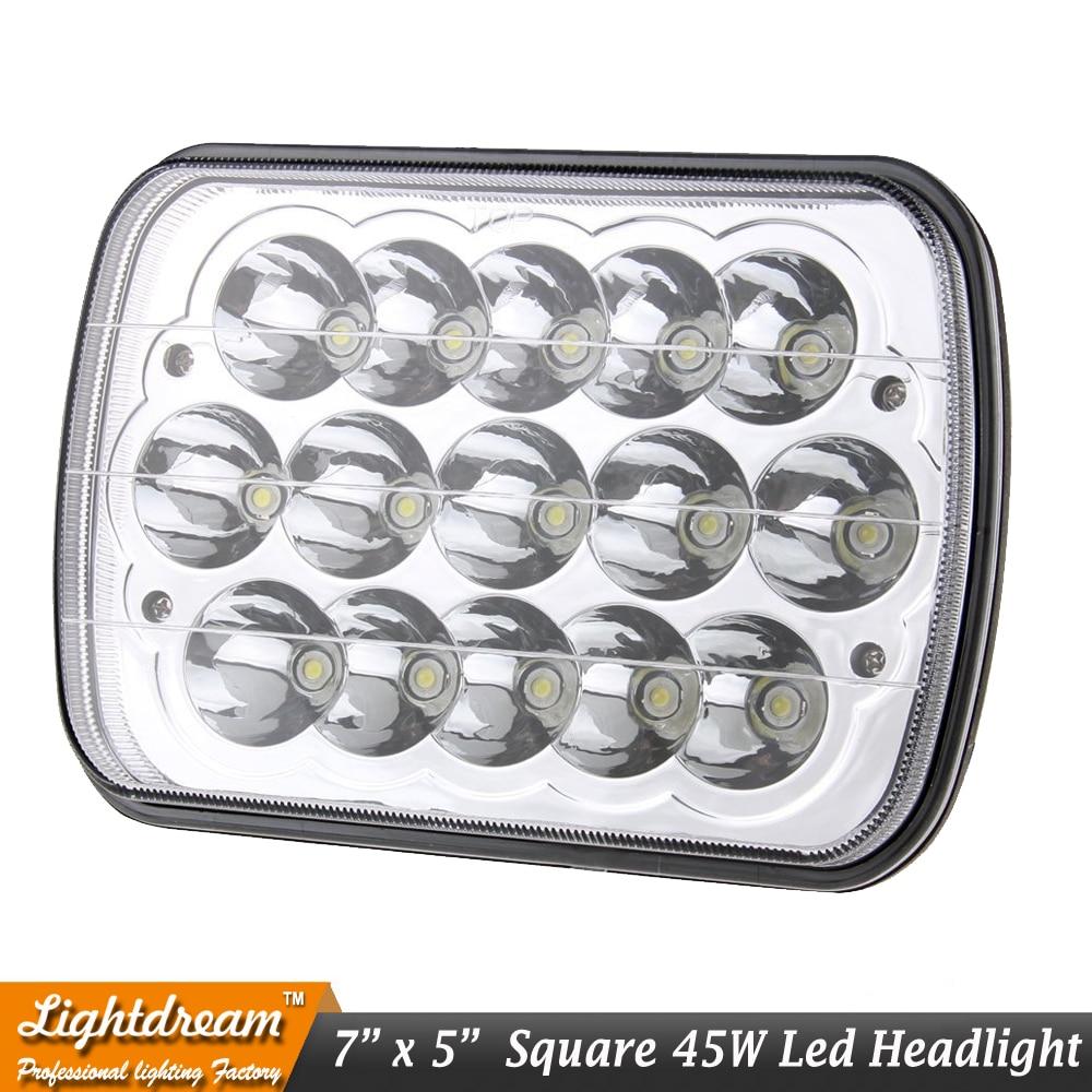 7x6 led möhürlənmiş şüa 7x5 45W Yüksək aşağı şüa 45W LED - Avtomobil işıqları - Fotoqrafiya 3