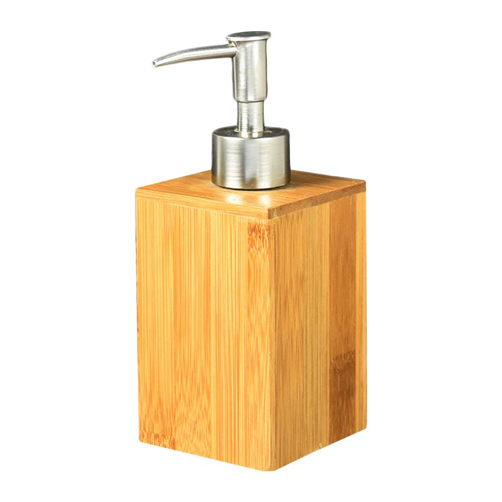 Household Bamboo Bathroom Hand Sanitizer Bottle Restaurant Hotel Lotion Bathroom Liquid Soap Dispenser