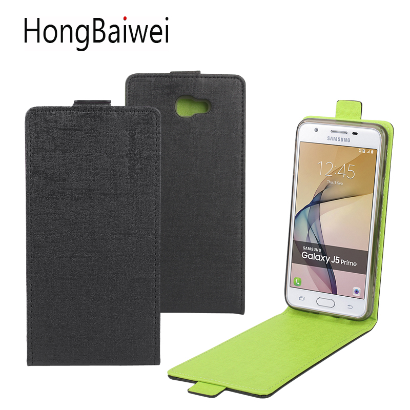 HongBaiwei for Samsung Galaxy J5 Prime Case Cover Fashion Hit Color Leather Wallet Card Holder Flip Phone Case