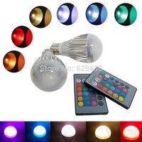 E27/GU10/B22 Flash 10 W RGB led luci di lampadina di Telecomando Red Green Blue flash strobe fad
