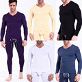 Sexy homens de roupa interior longo pescoço t-shirt Modal térmica
