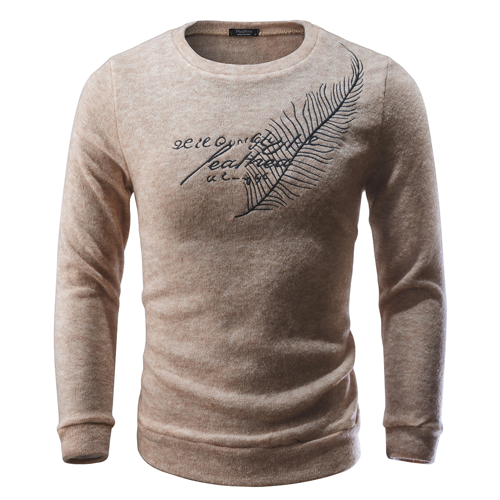 High Quality Sweater New Into Casual Pullover Men Autumn Winter O Collar Gradient Color Knitted Brand Men's Sweater