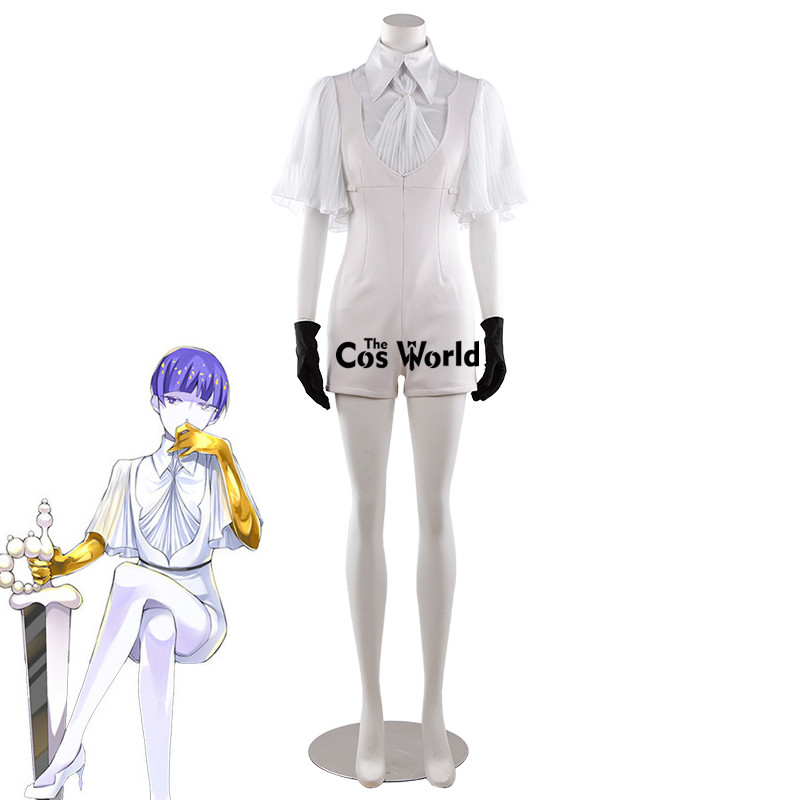 Land of the Lustrous Phosphophyllite Moon Shirt Suspenders Jumpsuits Uniform Outfit Anime Customize Cosplay Costumes