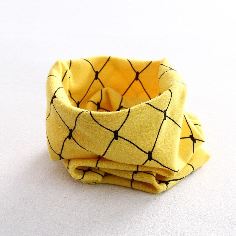 Осенне-зимний детский хлопковый шарф для девочек и мальчиков теплые шарфы Детский круглый кольцевой ошейник Детский шарф детский волшебный шейный платок - Цвет: grid 4