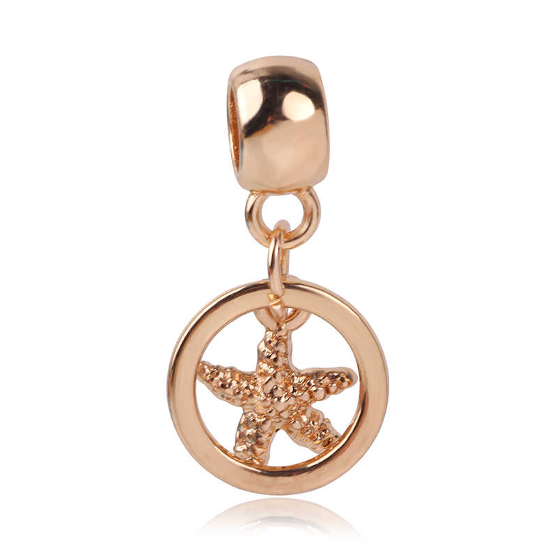 Luxuriöse Hohl Herz Roboter Mickey Liebe Crown Rose goldPendant Perlen Fit Marke Charme Armbänder Frauen Schmuck