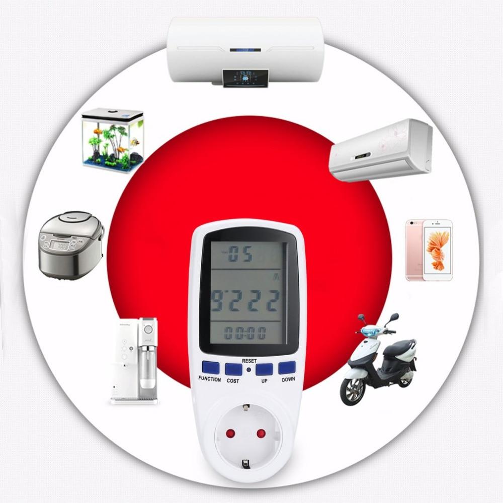 Wattímetro digital Enchufe de la UE Interruptor Medidor de voltaje - Instrumentos de medición - foto 2