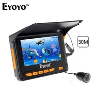 Free Shipping 30M Underwater Video Fishing Camera Fish Finder 4 3 LCD Monitor 10pcs IR LED