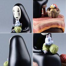 Estudio Ghibli mi vecino TOTORO resina caja de música Anime japonés figura de acción Miyazaki Hayao TOTORO figura niños juguetes modelo muñeca