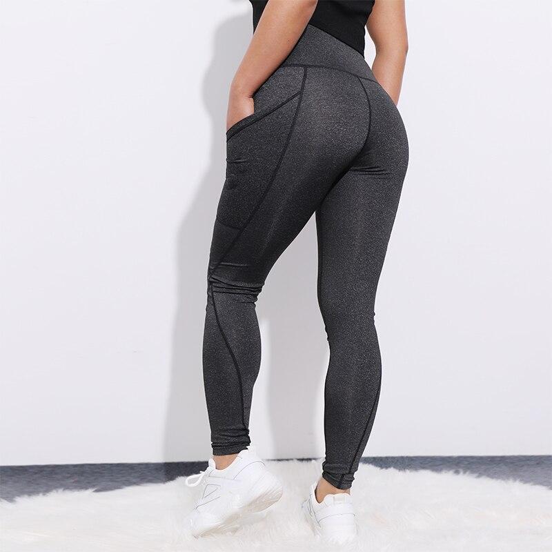 CHRLEISURE High Waist Pocket   Leggings   Women Sexy Fitness Workout Activewear line Pants Elasti Patchwork Push Up   Leggings