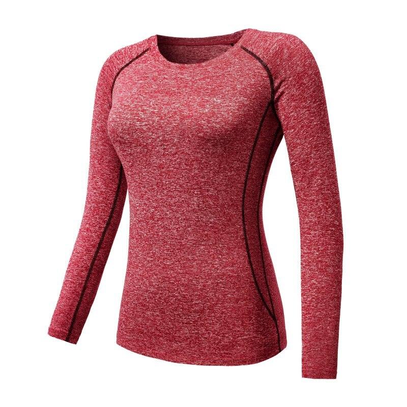 0ea58aeb Women Long Sleeve Sports Compression T Shirt Quick Dry Gym Yoga ...