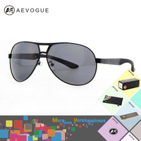 AEVOGUE With Case Brand Alloy Frame Aviator Polarized Sunglasses Men Good Quality Sport Sun Glasses Polaroid
