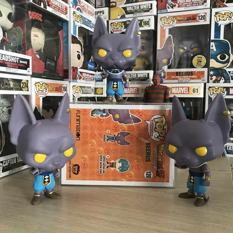 ORIGINAL Imperfeito Funko Pop Amina Dragon Ball Super-Beerus Solto Toy Figura Collectible Modelo Toy preço Mais Barato Sem caixa