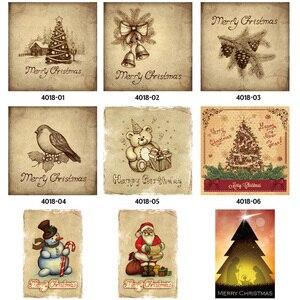 Image 2 - Feliz Natal Papai Noel Presente Alce Windbells Esqui Batismo Retro Placas de Lata de Metal Arte Da Parede Home Decor Poster Ferro para bar Pub