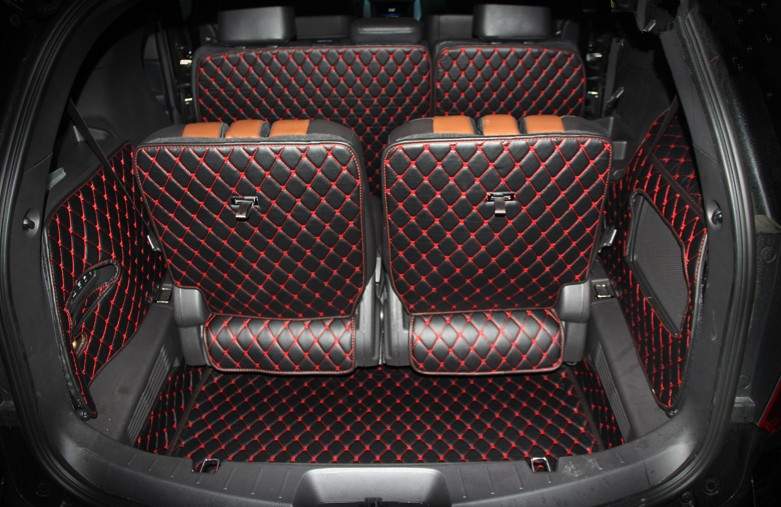 ¡Bueno! Set completo de colchonetas para Ford Explorer 7seat - Accesorios de interior de coche