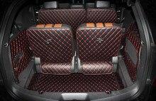 Хорошо! полный набор коврики в багажник для Ford Explorer 7 мест 2017-2011 прочный загрузки грузового лайнера ковров для Проводника 2016, бесплатная доставка
