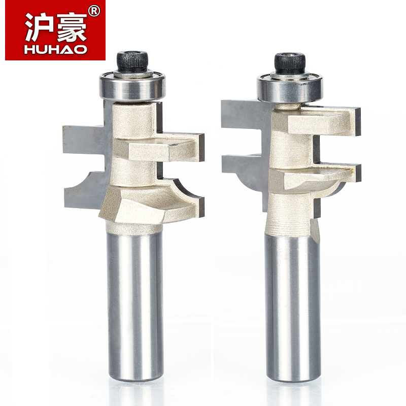 HUHAO 1pc 1/2 Shank Router Bits For Wood Round Wood Tenon Cutter Combination CNC Cutter Woodworking Tool huhao 1pcs 1 2 1 4 shank router bits for wood woodworking tool cnc engraving cutter cutting the wood router tool fresa