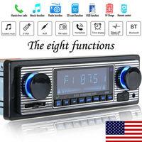 STATI UNITI Vintage Auto Bluetooth Radio MP3 Carta del Giocatore di DEVIAZIONE STANDARD Stereo USB AUX Stereo Classico Audio FM Chiamate A mano libera radio FM