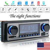 US Vintage Car Bluetooth Radio MP3 Player SD Card Stereo USB AUX Classic Stereo Audio FM Hand-free Calls FM Radio