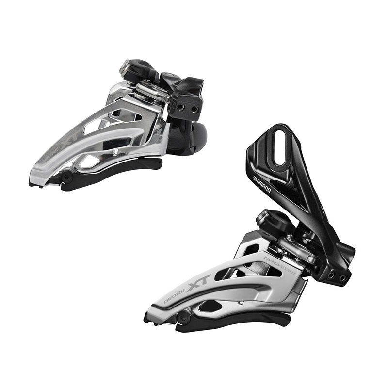 SHIMANO DEORE <font><b>XT</b></font> 2s Speed Front Derailleur FD <font><b>M8020</b></font>-L Clamp & <font><b>M8020</b></font>-D Direct Mount Side Swing image