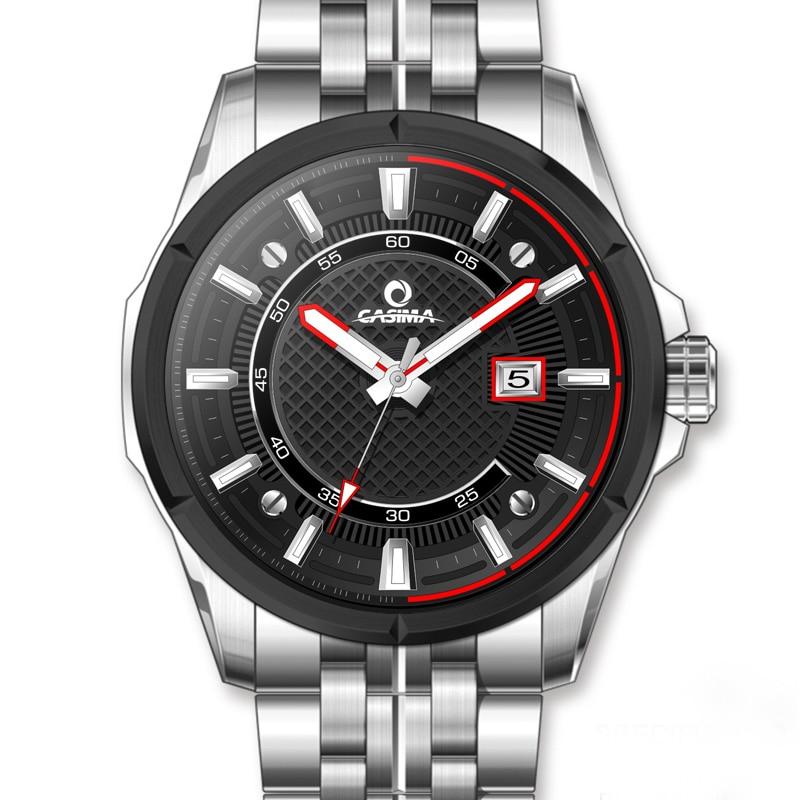 2016 CASIMA watch men stainless steel quartz-watch outdoor sports fashion Wrist watches waterproof 100m men clock #8302
