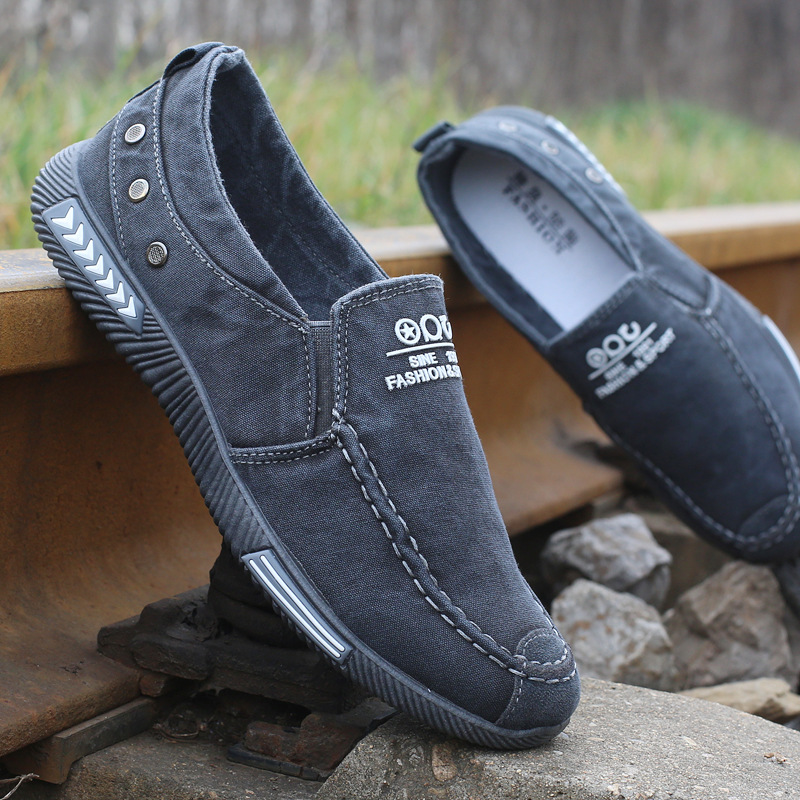 2019 Men Vulcanize Shoes Fashion Sneakers Male Shoes Adult Footwear Comfort Men Shoes Denim Men Loafers Men Shoes Canvas(China)