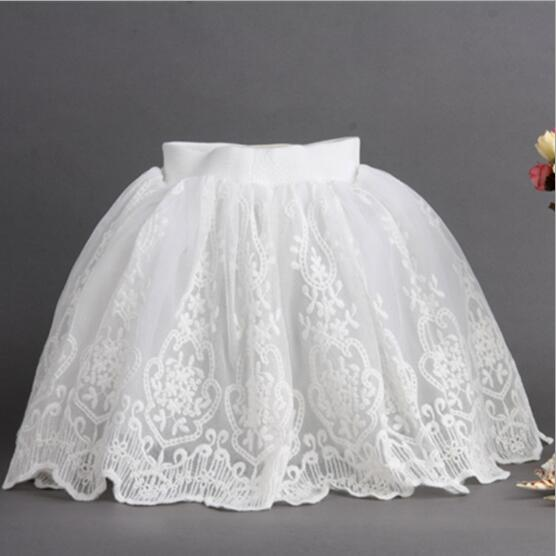 Baby Girl Skirts 2018 New Kids Tulle Skirts White Lace Children Skirt Fashion High-grade Children Belle Clothes