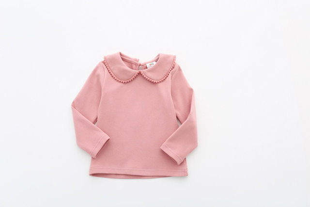 2018 Spring Autumn 2-10 Years Old Baby Children'S Clothing Long Sleeve Solid Pure Color Cute Cartoon Kids Girls Basic T Shirts (15)